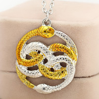 animal crossing stories - 2016 Movie Jewelry Series The Neverending Story Movie Necklace Harry Double Snakes Gold Silver Loki Film Pendant Necklaces ZJ