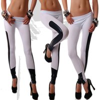 Wholesale Hot Sale Women Autumn Solid Patchwork Sexy Leggings Free Fashion Pants