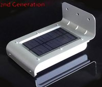 Wholesale 16 LED Sensor Lamp Waterproof wall Lights led lamps with Solar Power For Outdoor Hot