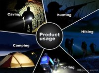 Wholesale 5 Modes LM CREE XM L T6 LED Flashlight Torch with Wrist Strap Mini Handy Portable Light Lamp Durable Outdoor Hunting Lights
