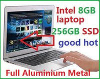 Wholesale 2016 inch quot aluminium notebook laptop computer GB GB SSD bluetooth Intel Celeron U High Quality cheap DHL