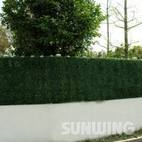 Wholesale boxwood carvings Artificial boxwood grass mat cmX25cm fake fence garden decorative anti UV leaf foliage leaves density G0602A001C