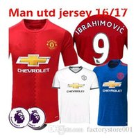 away fashion - 2016 Top Thailand Quality home away jerseys Shirts Ibrahimovic MEMPHIS ROONEY POGBA football jersey Free number printed name