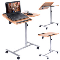 achat en gros de portable desk laptop-Ordinateur portable réglable table de bureau support titulaire Roues pivotantes
