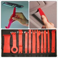 Wholesale 11pcs Car Panel Audio Stereo GPS Trim Moulding Removal Install Bodyshop Pro Tool yy140
