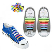 Wholesale Slip ons Silicone No Tie Shoelaces Unisex Women Men Athletic Running Elastic Silicone Shoe Lace All Sneakers Fit Strap Set Colorful