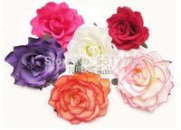 big blossoms - NEW big blooming Artificial Rose blossom cm Silk Flower Heads for decoration mariage