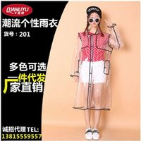 Wholesale The new people thousands of miles of conventional rain poncho raincoats ride SK transparent step adult EVA raincoat split