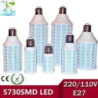 20w led bulb - High Power W W W W W W W W W E27 SMD5730 LED Corn lights Bulb B22 E40 E14 Spotlight Lighting