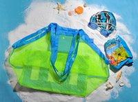 Wholesale 1000pcs cm Cheap Children s Beach Dredging Tool Toy Storage Bag Mesh Bag Large Pouch Bag Sand Beach Bags Mesh Bag Tote jy211