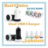 best model cars - In car adapter Dual USB Car Charger Best model Universal Volt A for iPhone iPad iPod Galaxy CE FCC ROHS
