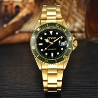 mens gold watches - 2016 Luxury MCE Mens Business Watch Automatic Stainless Steel Mechanical Watches With Complete Calendar For Men DHL