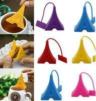 Wholesale Silicone Tea Bag Eiffel Tower Loose Infuser Strainer Herbal Spice Filter