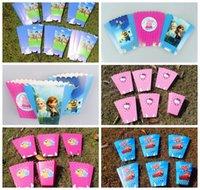 baby shower themes - paper popcorn box Paper Bag Popcorn Bag Minnie spiderman theme party decoration baby party supplies favor baby shower Popcorn boxes KKA869