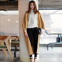 best wool coats for women - Women Autumn Winter Fashion Street Wear Comfort Cashmere Wool Warm Long Cape Coat Outwear Cloak for Ladies with Best Quality