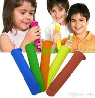 Wholesale NEW Design Silicone Mold Push Up Ice Cream Jelly Lolly Pop Maker Popsicle Mould Good Quality