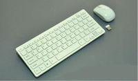 Wholesale 2 G White Wireless PC Keyboard Mouse Keypad Film Kit Set For DESKTOP PC Laptop FC8068
