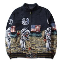 american flag shop - Nasa jacket American flag D printed Moon Space mens bomber jackets High quality jackets and coats drop shopping AMY401