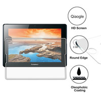 Wholesale Qiaogle Anti explosion Tempered Glass Screen Protector Ultra Hard For Lenovo IdeaTab A10 A7600 inch Premium Screen Protector