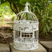 Wholesale Flower Decoration Bird cage New Arrival Fashion Iron Decorative Birdcage