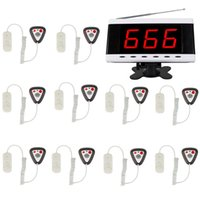 Wholesale 10Call Transmitter Button Pager Digital Receiver Host Voice Reporting for Wireless Hospital Nurse Calling Paging System F3211A