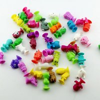b cup models - 60pcs CM Ickee Stikeez Cartoon Animal Action Figures Toys DHL Sucker Mini Suction Cup Collector Capsule Model Kids Sucker toy B