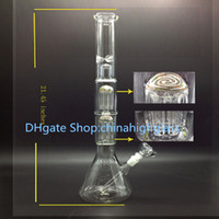 arm factory - high quality factory price mm thickness glass bong double arm perc with bubbler perc with beaker base and bowl