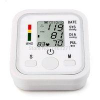 Wholesale arm blood pressure monitor tonometer sphygmomanometer hematomanometer pulsometro for heart ratehealth care monitors voice