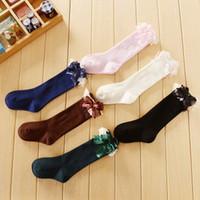 baby socks pattern - Girls Boys Quality Solid Stripe Lace Geometry Animal Pattern Cartoon Cute Kids Long Socks Baby Leg Warmers