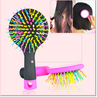 Cheap New Girls Comb Massage Round Hair brush With Mirror Cute Magic hair curl staight styling tool for women free shipping
