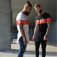 Wholesale Men Fashion Balmain T Shirt Extended T shirts Draped Hip Hop Oversized Split Brand Shirts On Sale
