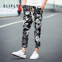 big mens casual pants - XL Colorful Floral Linen Mens Harem Pants Casual Big Size Male Jogging Trousers Running Comfortable Breathable Hip Hop Pants