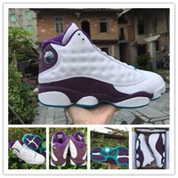 b heat - Discount Original Air Retro basketball shoes for men mens running shoes sneakers Sports shoe s White purple