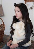 angora blend yarn - NEW Arrival Winter Sunday Angora Yarns Girls Vest Warm Poly Spun Velour Kids Vest
