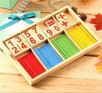 Wholesale Montessori Mathematical Intelligence Stick Preschool Educational Toys cm cm cm