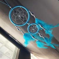 Wholesale New Hot Dreamcatcher Wind Chimes Indian Style Feather Dream Catcher Gift for Christmas and New Year Car Hangings Decoration