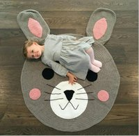 Wholesale Crochet D Cartoon Baby Rabbit Blanket Kids Rabbit Thick Cotton Play mat Kids Room Decoration baby Infant Newborn Photography Props cm