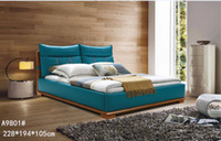 bedroom leather furniture - GENUINE LEATHER NAVY ELEGANT STYLE MODERN SIMPLE DOUBLE PERSON FASION FURNITURE GOOD QUALITY cm AFA9801