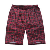 Wholesale Plus Size Quick Drying Beach Surfing Swim Wear Plaid Men Shorts Bermuda Running Joggers Basketball Boardshort