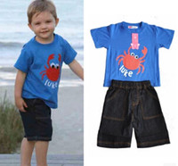 baby clothes name brand - boys clothing sets boy suits summer childrens clothing set kids tracksuits children set jeans name brand baby clothes
