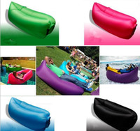 Wholesale Convenient Air Lounge Sofa Bed Lightweight Hangout Fast Inflatable Camping Sleeping Bag Hot Outdoor Waterproof Nylon Hangout Sleeping Bag