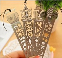 Wholesale hollow out thin Mini Metal Bookmark graduated ruler Cartoon Book marks Wedding bookmark gift