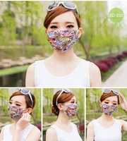 activated carbon filter cotton - New Women Summer Cool Mask Washable Activated carbon Filter Into Masks Cool Picture Colorful Mask