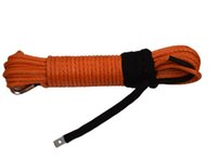 Wholesale Orange quot ft Synthetic Rope Amsteel Winch Cable for Car Accessaries Towing Rope