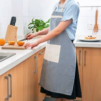 Wholesale Cotton and linen apron fashion simple cooking oil corset adult sleeveless gown household kitchen or more colors