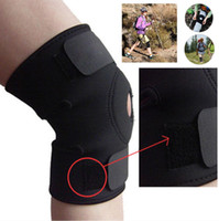 belt fastener - 2016 Black Elastic Neoprene Knee Belt Patella Support Fastener Adjustable Sports Brace Protector Pads Sleeve Strap