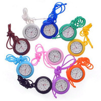 Wholesale 2016 New Designer Multicolor Nurse Silicone Watch With Roman Numerals Useful Nurses Necklace Quartz Watches