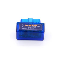 Wholesale Free Ship Super Mini ELM327 Bluetooth Interface OBD2 ELM V2 OBDII OBD Car Diagnostic Tool for Andriod ELM