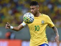 Wholesale Thailand Quality Copa America Brazil national uniform home yellow jersey Neymar short sleeves suit