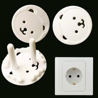 bearing guard - 20pcs Kids Bear Guard Against Electric Shock Baby Electrical Security Protector EU Socket Cover Cap Plug Two Pin Phase Safety EU